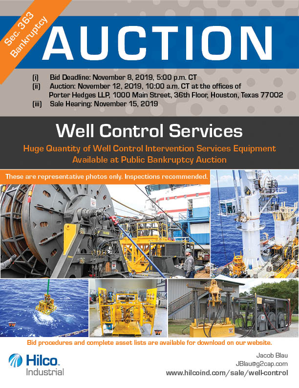Bankruptcy Auction Flyer